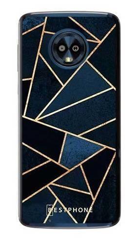 Etui geometria granatowa na Motorola Moto G6