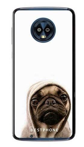 Etui mops na białym tle na Motorola Moto G6