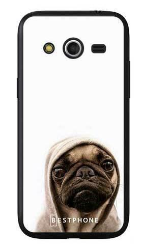 Etui mops na białym tle na Samsung Galaxy Core LTE
