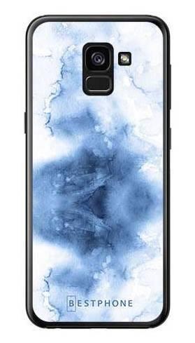 Etui niebieska akwarela na Samsung Galaxy A7 2018