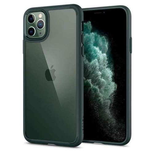 Etui pancerne SPIGEN ULTRA HYBRID IPHONE 11 PRO MIDNIGHT GREEN