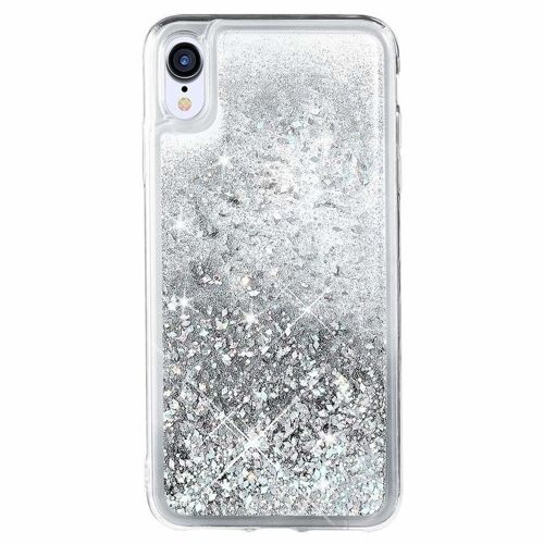 Etui plecki brokatowe Liquid LG Q60 srebrne