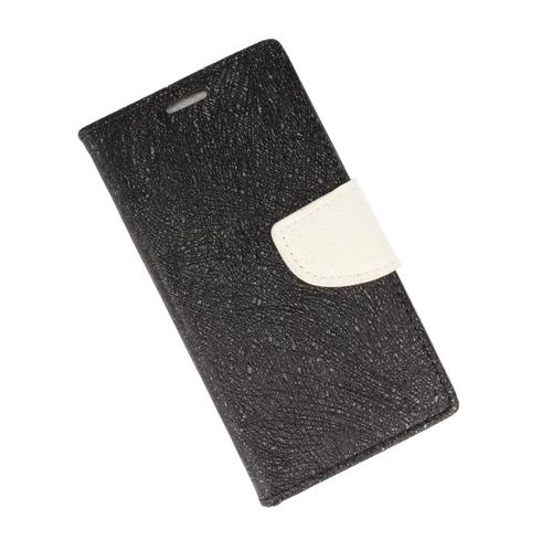 Etui portfel fancy HUAWEI P9 LITE MINI czarno-biały shine