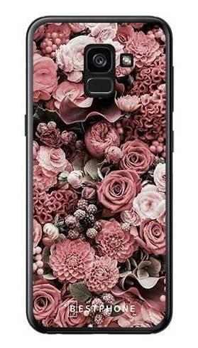 Etui różowa kompozycja kwiatowa na Samsung Galaxy A7 2018