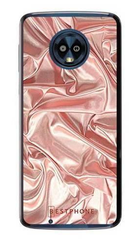 Etui różowy atłas na Motorola Moto G6
