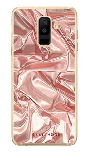 Etui różowy atłas na Samsung Galaxy A6 Plus