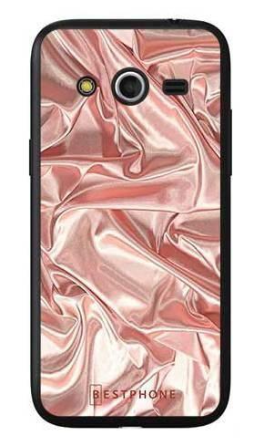 Etui różowy atłas na Samsung Galaxy Core LTE