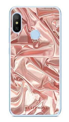 Etui różowy atłas na Xiaomi Mi A2 Lite \ Redmi 6 Pro