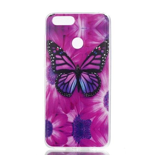 Etui slim case art HUAWEI HONOR 7X sunflower and butterfly