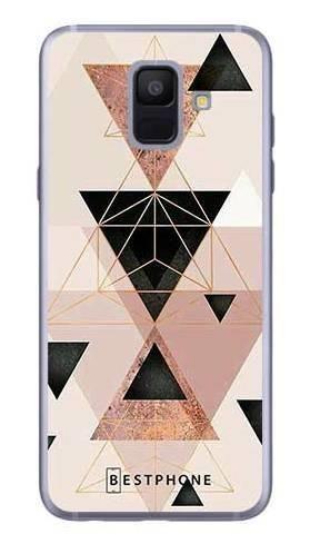 Etui trójkąty pudrowe na Samsung Galaxy A6