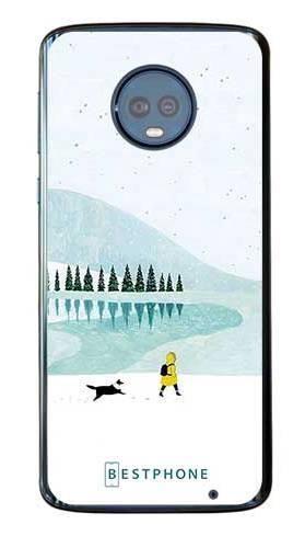 Etui zimowy spacer na Motorola Moto G6 Plus