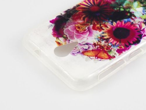 FANCY Alcatel POP S3 czaszka kwiaty