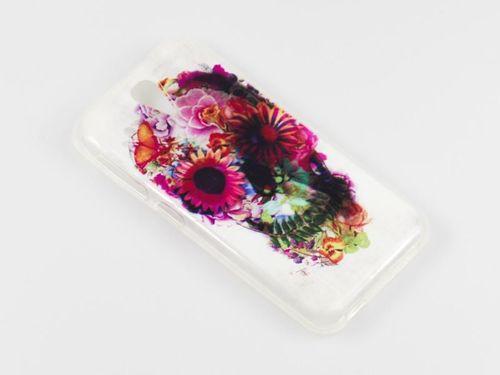 FANCY HTC Desire 500 czaszka kwiaty