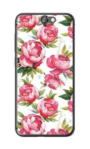 FANCY HTC ONE A9 różowe kwiaty