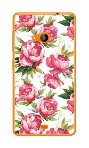 FANCY Microsoft LUMIA 535 różowe kwiaty