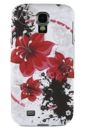 FLOWER Samsung GALAXY S4 czerwone kwiaty