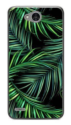 Foto Case LG X POWER 2 czarne liście