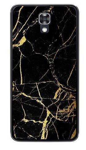 Foto Case LG X SCREEN czarno złoty marmur