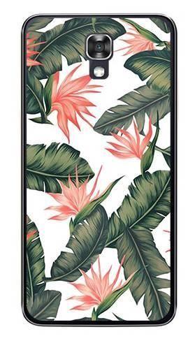 Foto Case LG X SCREEN liście z kwiatami