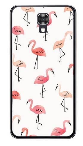 Foto Case LG X SCREEN różowe flamingi