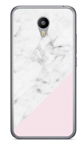 """Foto Case Meizu M2 5"""" biały marmur z pudrowym"""