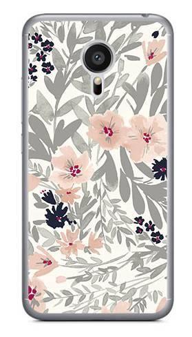 Foto Case Meizu MX5 szare kwiaty