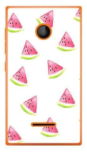 Foto Case Microsoft Lumia 435 białe arbuzy
