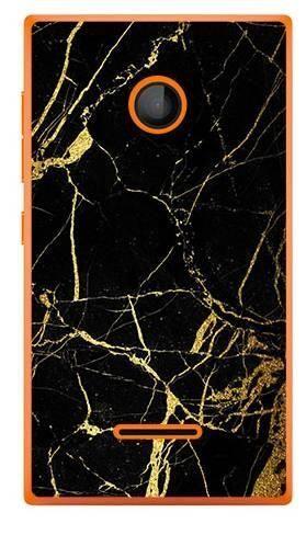 Foto Case Microsoft Lumia 435 czarno złoty marmur