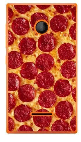 Foto Case Microsoft Lumia 435 pizza