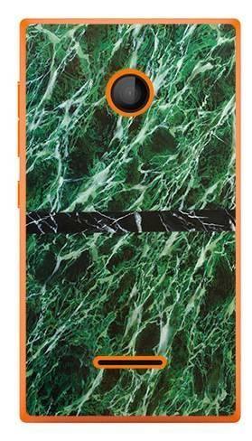 Foto Case Microsoft Lumia 435 zielony marmur