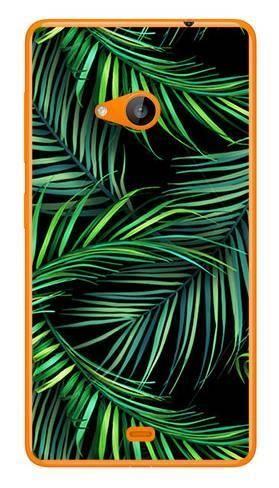 Foto Case Microsoft Lumia 535 czarne liście