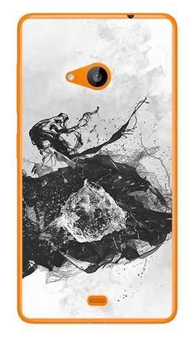 Foto Case Microsoft Lumia 535 czarno biały wybuch