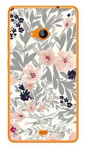 Foto Case Microsoft Lumia 535 szare kwiaty