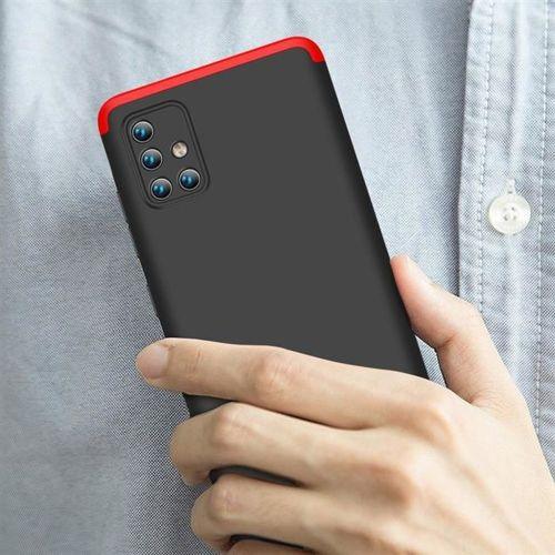 GKK 360 Protection Case etui na całą obudowę przód + tył Samsung Galaxy A71 czarno-czerwony