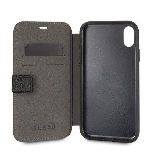 Guess GUFLBKI61IGLBK iPhone Xr black /czarny book Iridescent