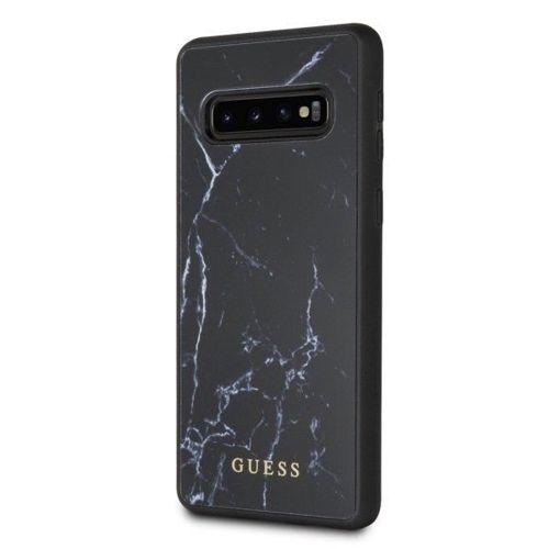 Guess GUHCS10PHYMABK S10 Plus G975 czarny/black hard case Marble