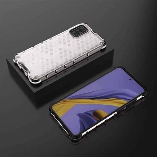Honeycomb etui pancerny pokrowiec z żelową ramką Samsung Galaxy S20 Plus przezroczysty