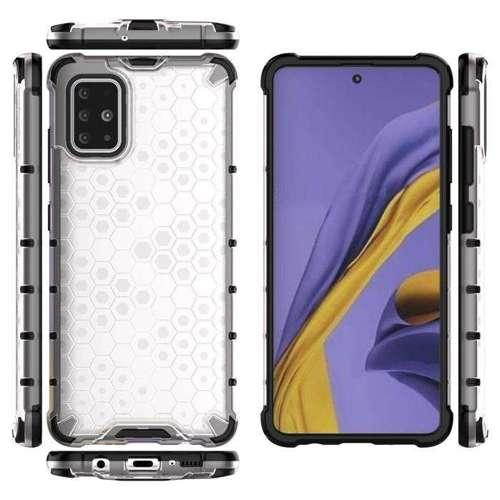 Honeycomb etui pancerny pokrowiec z żelową ramką Samsung Galaxy S20 przezroczysty