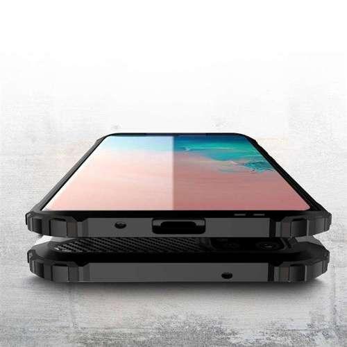 Hybrid Armor pancerne hybrydowe etui pokrowiec Samsung Galaxy S20 srebrny