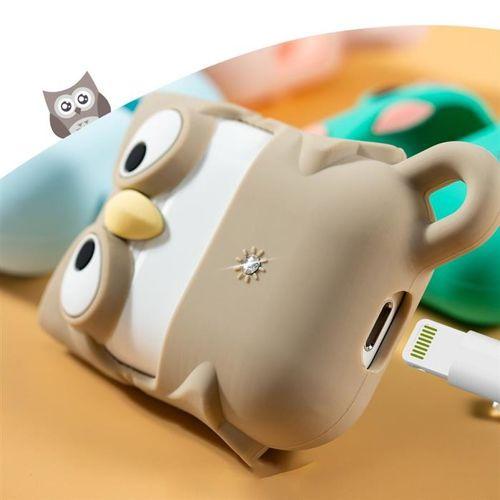 Kingxbar Adorkable Airpods Case etui z kryształami Swarovskiego na słuchawki AirPods 2 / AirPods 1 różowy