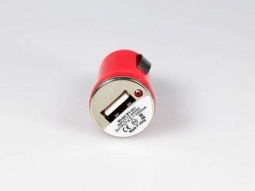 Ładowarka samochodowa WTYK MICRO USB fioletowy