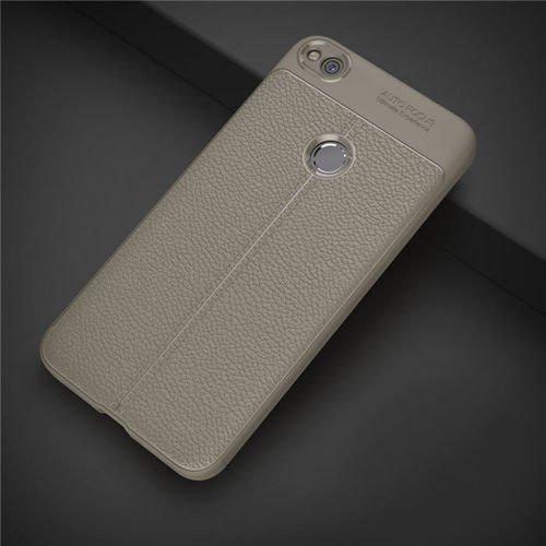 Litchi Pattern elastyczne etui pokrowiec Huawei P9 Lite 2017 / P8 Lite 2017 / Honor 8 Lite / Nova Lite szary