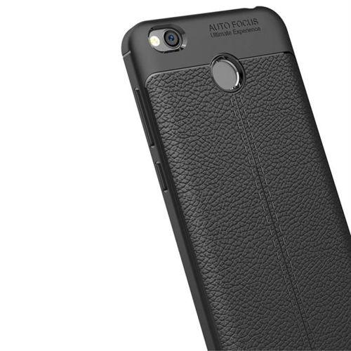 Litchi Pattern elastyczne etui pokrowiec Xiaomi Redmi 4X niebieski