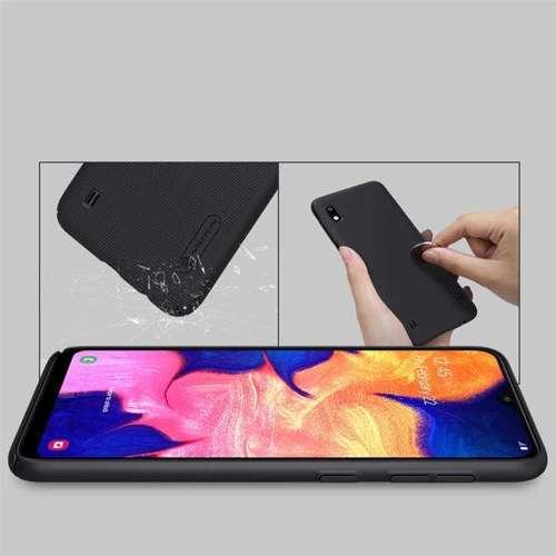 Nillkin Super Frosted Shield wzmocnione etui pokrowiec + podstawka Samsung Galaxy A10 czarny