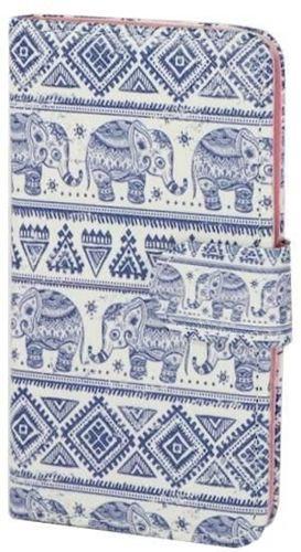 PORTFEL ART Alcatel Pop C3 słonie aztec