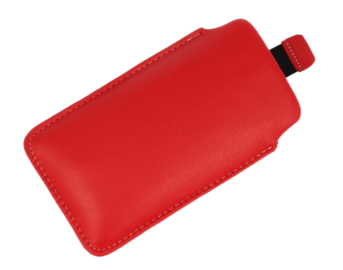Pionowa skórzana wsuwka Vena HTC HD2/ LG L5 czerwona