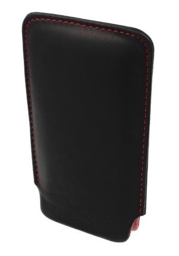 Pionowa skórzana wsuwka Vena LG L3 czarna (czerwony środek)