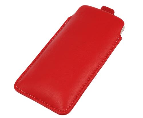 Pionowa skórzana wsuwka Vena SAMSUNG I9300 S3 czerwona