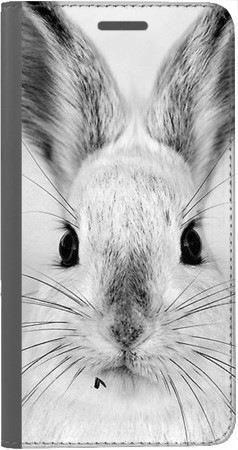 Portfel DUX DUCIS Skin PRO Czarno-biały zając na Huawei Honor 9 Lite