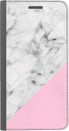 Portfel DUX DUCIS Skin PRO biały marmur z pudrowym na Huawei Honor 10